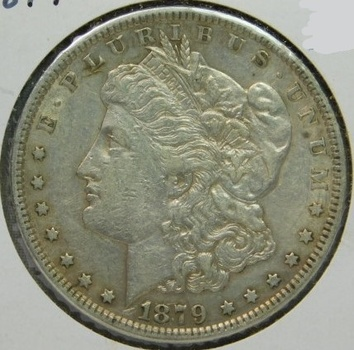 1879 Morgan SILVER Dollar - Philadelphia Minted
