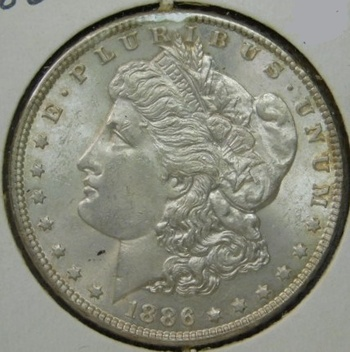 HIGH GRADE!! - 1886 Morgan Silver Dollar - Beautiful Detail and Luster
