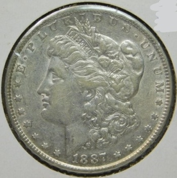 1887 Morgan Silver Dollar - Excellent Detail and Luster