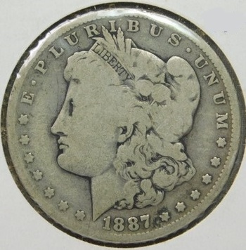 1887-O Morgan Silver Dollar - Well Outlined - New Orleans Minted