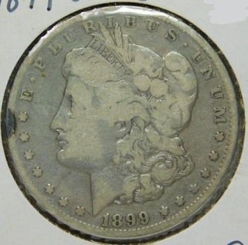 1899-O Morgan Silver Dollar - Well Outlined with Visible LIBERTY and Date - New Orleans MInted