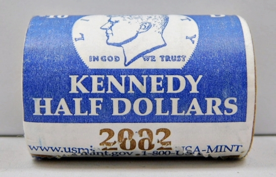 Unopened U.S. Mint Roll of 2002-D Kennedy Half Dollars - $10 Roll from the Denver Mint