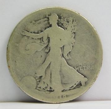 1918-D Walking Liberty Silver Half Dollar - Denver Minted