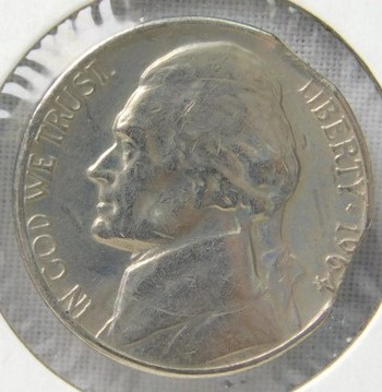 1964-D Jefferson Nickel with Double Clip Error!!