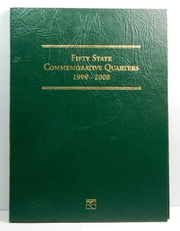 The Fifty State Commemorative Quarter Series Album - 1999 to 2008 - Full Album with $13.00 in State Quarters