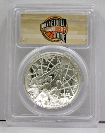 2020P Basketball Hall of Fame Commemorative Silver Dollar - FIRST DAY OF ISSUE - PCGS Graded PR70DCAM - Perfectly Graded Coin!!!