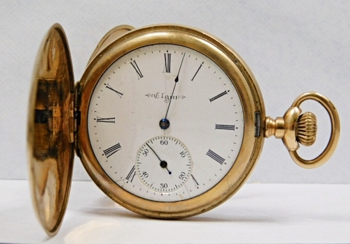"Vintage Elgin Gold Filled Ornately Engraved Pocket Watch - 1.82"" - Total Watch Weight 70 Grams"