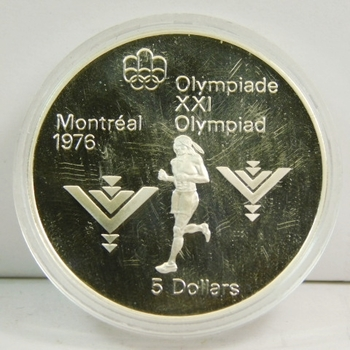 1976 Canada Silver 5 Dollars Montreal Commemorative ~.75 Oz. Of Silver