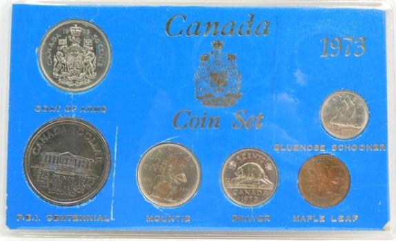 1973 Canada Coin Set - Six Coin Uncirculated Set
