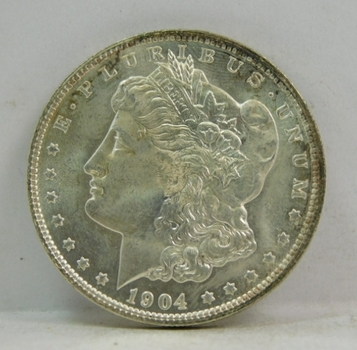 1904-O Morgan Silver Dollar - Nice Detail and Luster on High Grade Coin - New Orleans Minted