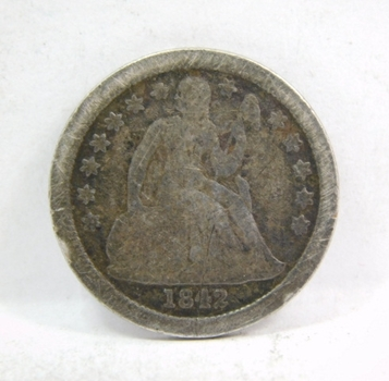 1842 Silver Seated Liberty Dime