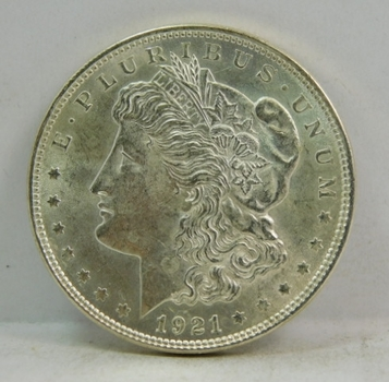 1921 Morgan Silver Dollar - Excellent Detail and Luster