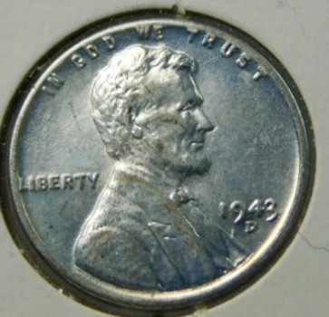 1943-D Steel Lincoln Wheat Cent - High Grade - Strong Detail