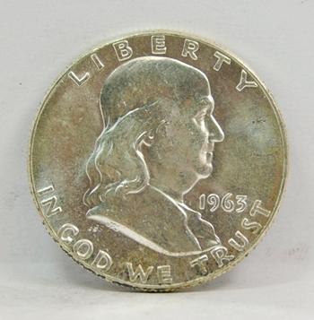 1963-P SILVER US Franklin Half Dollar-High Grade, Brilliant Uncirculated-Lustrous & Choice!