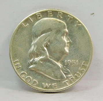 1951-S SILVER US Franklin Half Dollar-High Grade, Brilliant, Lustrous & Choice!