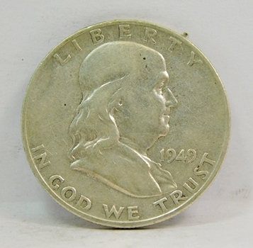 Key Date! 1949-S SILVER US Franklin Half Dollar-Higher Grade, & Choice Original!