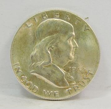 1962-D SILVER US Franklin Half Dollar-High Grade, Brilliant Uncirculated-Lustrous & Choice!