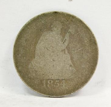 1854 With Arrows Seated Quarter Choice Original Condition!