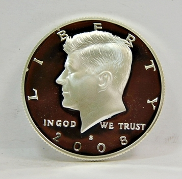 2008-S US Proof SILVER Kennedy Half Dollar SUPERB GEM DCAM Proof Condition-Nice!