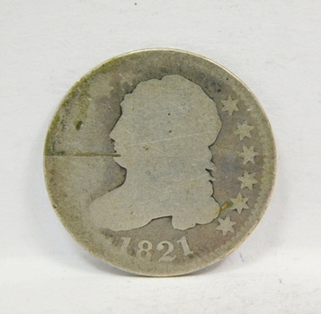 *Semi Key Date*1821 US SILVER Capped Bust Dime! Original Condition & Very Tough To Find!