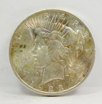 1923 US Silver Peace Dollar-Higher Grade-Lustrous & Well Struck! So Well Struck!