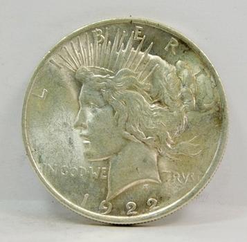 1922 US Silver Peace Dollar-Higher Grade-Lustrous & Well Struck! So Well Struck!