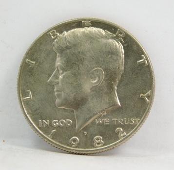 1982-P Kennedy Half Dollar - Excellent Detail - High Grade