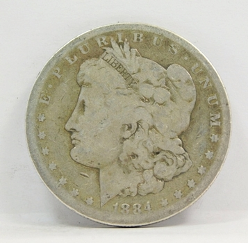 SCARCE DATE - 1884-S Morgan Silver Dollar - San Francisco Minted