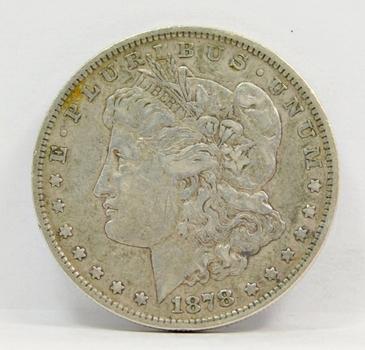 1878 Morgan Silver Dollar - 7 TF - Third Reverse
