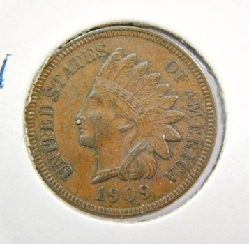 1909 Indian One Cent-Choice Original-Higher Grade-Perfect Type Set Coin! Held In A Private Collection Since 1915!