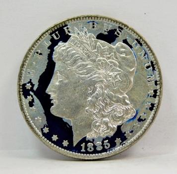 1885-O Colorized Morgan Silver Dollar - Nice detail