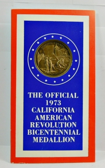 The Official California American Revolution Bicentennial Metal-Lincoln Mint Packaged-1973-Beautiful Bronze Design & Superb Quality