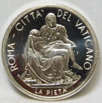 Pope John Paul II Jesus Christ Religious Silver Coin/Medal