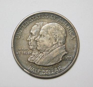 1923-S Monroe Doctrine Silver Commemorative Half Dollar - San Francisco Minted