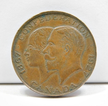 1927 60th Anniversary Of Canadian Confederation Commemorative Coin/Medal