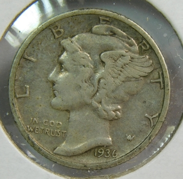 1936-S Silver Mercury Dime - San Francisco Minted