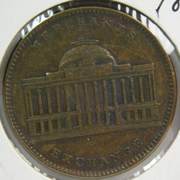 1837 Hard Times Token - Merchants Exchange - New York Joint Stock Exchange Company
