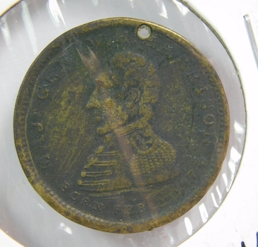 1840 Major General William H. Harrison - The Peoples Choice - Hard Times Token