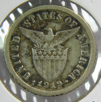1919-S Philippines Silver 10 Centavos - U.S. Administration - San Francisco Minted