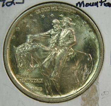 HIGH GRADE 1925 Stone Mountain Silver Commemorative Half Dollar - Brilliant Uncirculated w/ Blazing White Luster