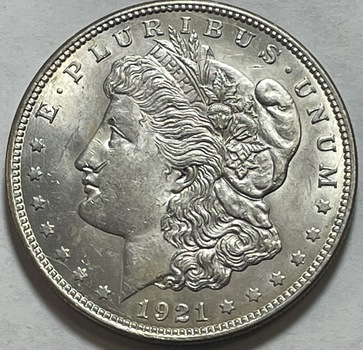 1921 Morgan Silver Dollar - Excellent Detail and Luster - High Grade