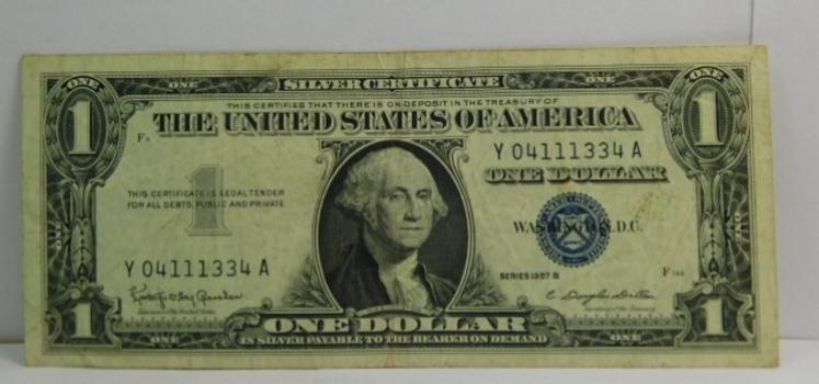 Series 1957B $1 Silver Certificate - Crisp Paper
