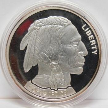 """2001 Copy of the New Bison Commemorative Nickel - 1.5"""" In Diameter"""