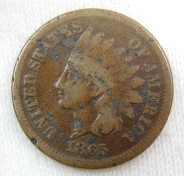 1865 Indian Head Cent - Very Well Outlined with Clear Date