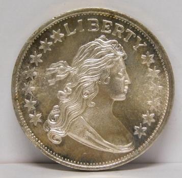1 oz .999 Fine Draped Bust Dollar Silver Round