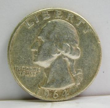 1964 Silver Washington Quarter - Nice Detail - Philadelphia Minted