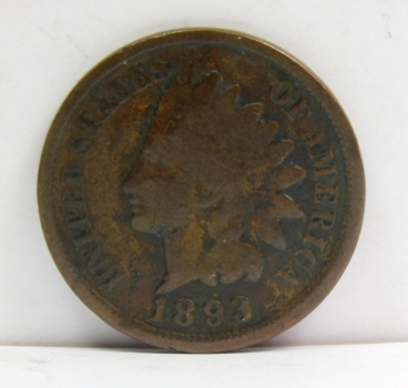 1893 Indian Head Cent - Well Outlined with Clear Date