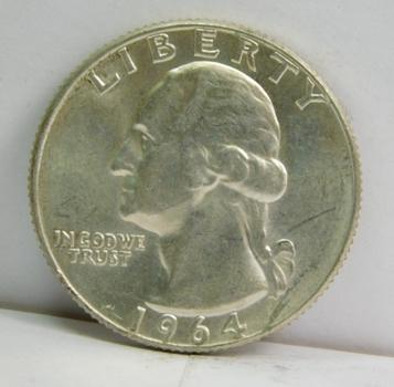 1964-D Silver Washington Quarter - Excellent Detail - Denver Minted