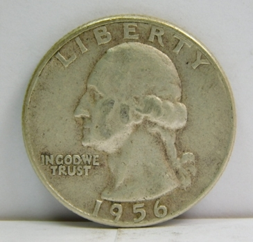 1956 Silver Washington Quarter - Philadelphia Minted
