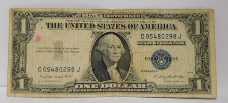 Lot of (4) 1935 & 1957 $1 Silver Certificates - Payable in Silver to the Bearer